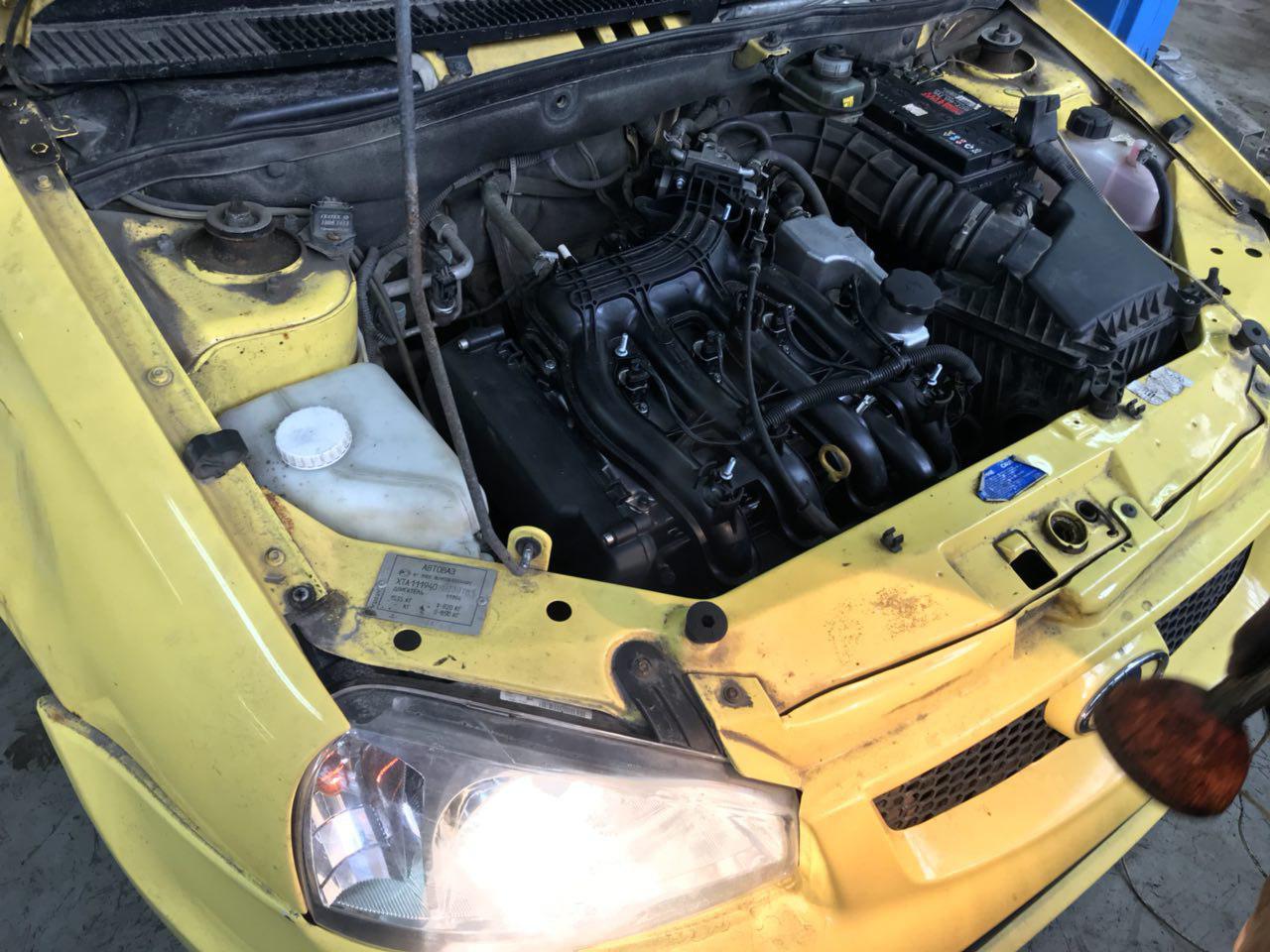 Замена двигателя на Ладе Калина